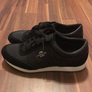 Coach tennis shoes, black